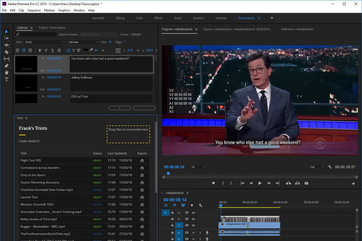 trint ai closed captioning plug in premiere pro 0imhemm