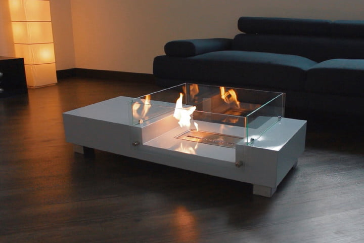 Coffee Table Fireplace kickstarter's flaming fireplace coffee table is so hot right now