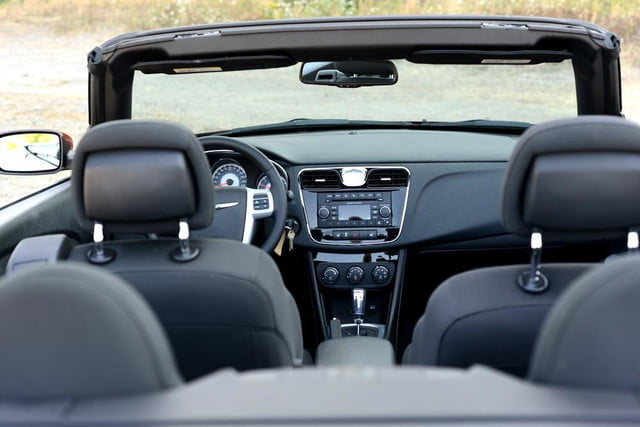 2012 chrysler 200 touring convertible review interior front from back