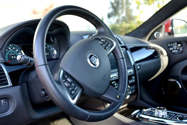 2012 jaguar xkr review steering wheel angle