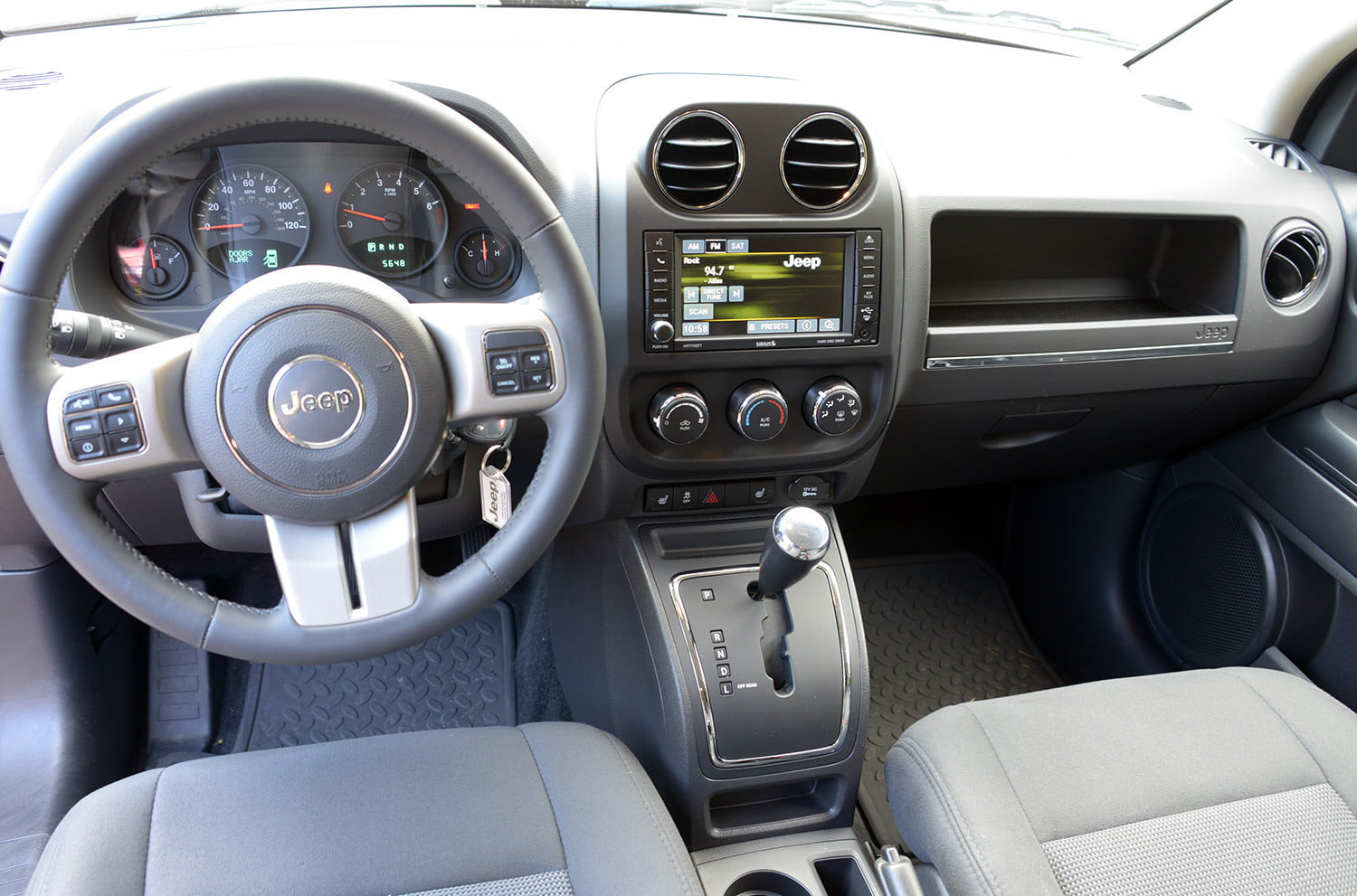2013 jeep compass review digital trends jeep compass review interior front