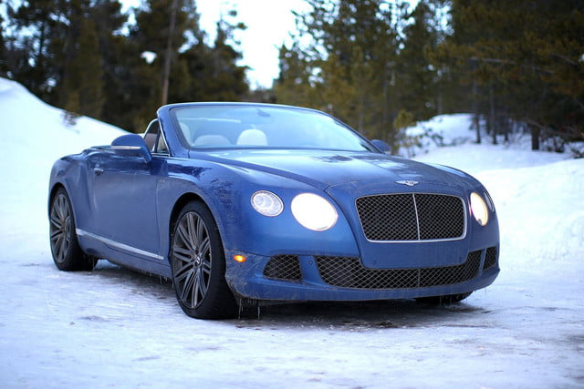 2014 Bentley Continental GT Speed blue front angle