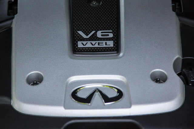 2014 Infiniti Q50S engine macro top