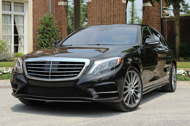 2015 Mercedes Benz S550 front angle side