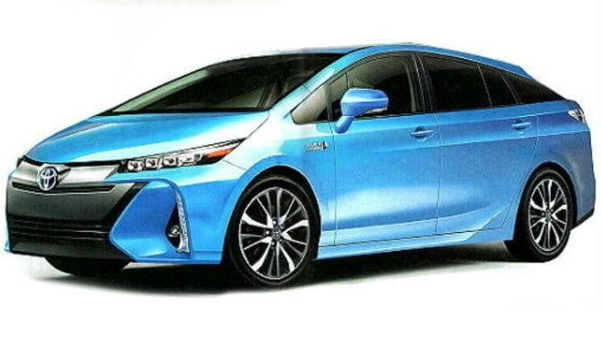 2016 Prius Blue Front Angle