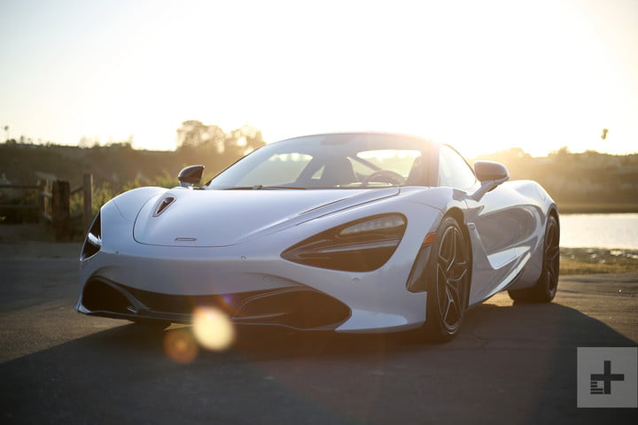 2018 mclaren 720s front angle flare