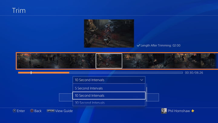 trim menu interval how to record a gameplay video on ps4