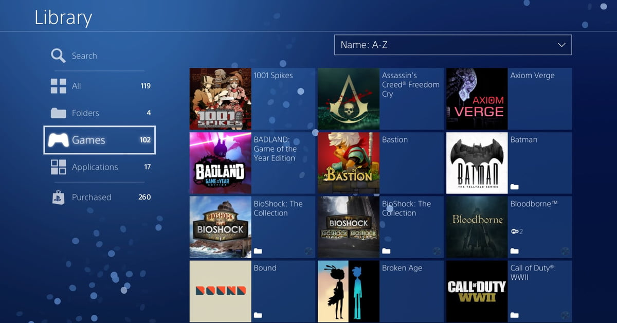 How To Organize Your Ps4 Game Library Using Folders