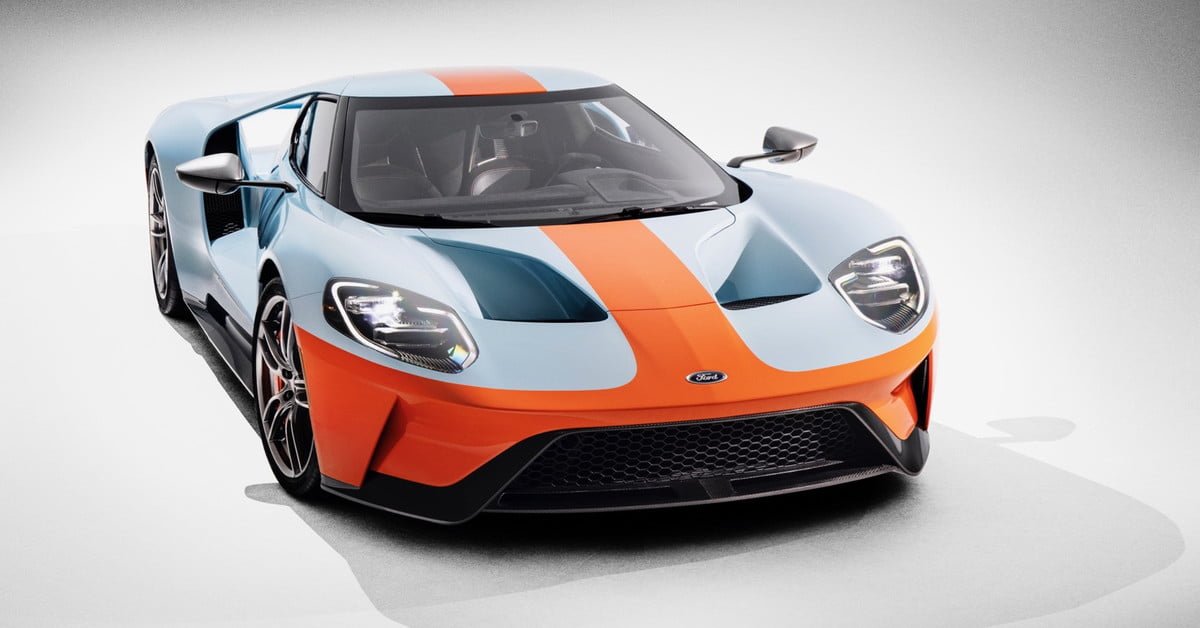 Ford Gt Heritage Edition Debuts With Gulf Oil Livery Digital Trends