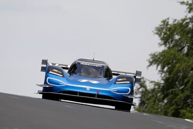Watch as Volkswagen's ID R racer wins the ultimate EV bragging rights