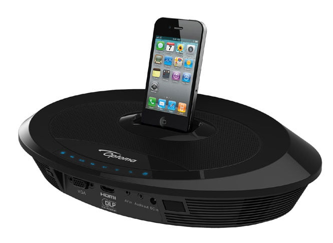 Optoma neo i ipod dock packs pico projector digital trends for Apple pico projector