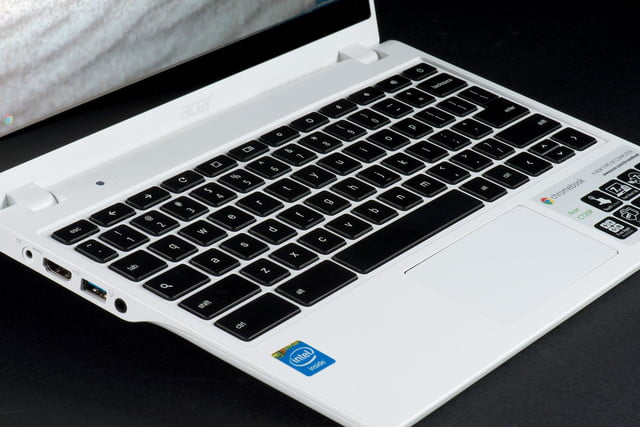 Acer C720P Chromebook keyboard angle