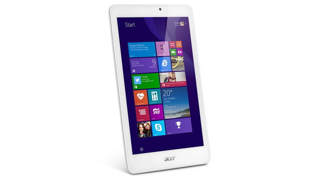 embargo 93 620am et acer goes tablet crazy ifa 2014 iconia tab 8 w 10 one upright angled press image