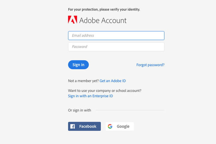 Adobe Account Sign In