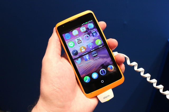 Alcatel OneTouch Fire Firefox OS home angle 2