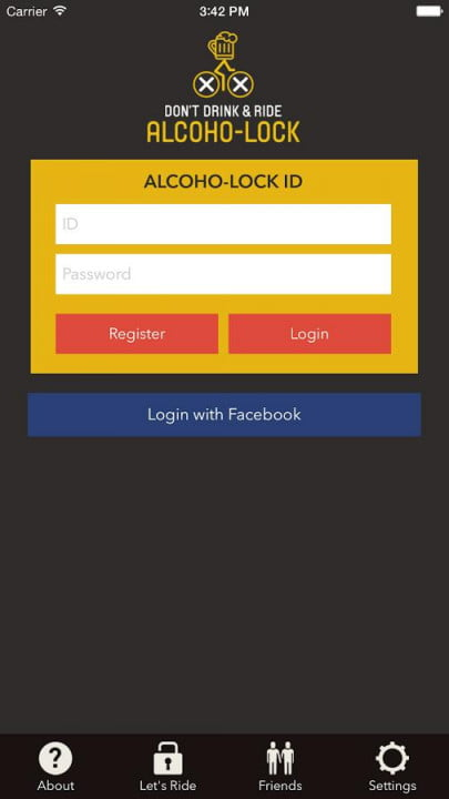 alcoho lock breathalyzer bike android app 4