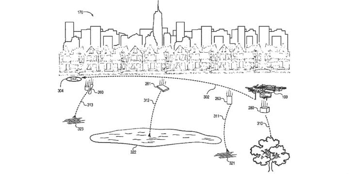 amazon delivery drone self disintegrate safety patent