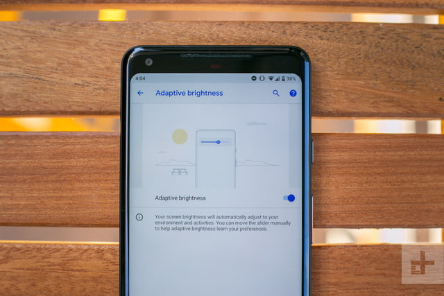 google android p news adaptive brightness