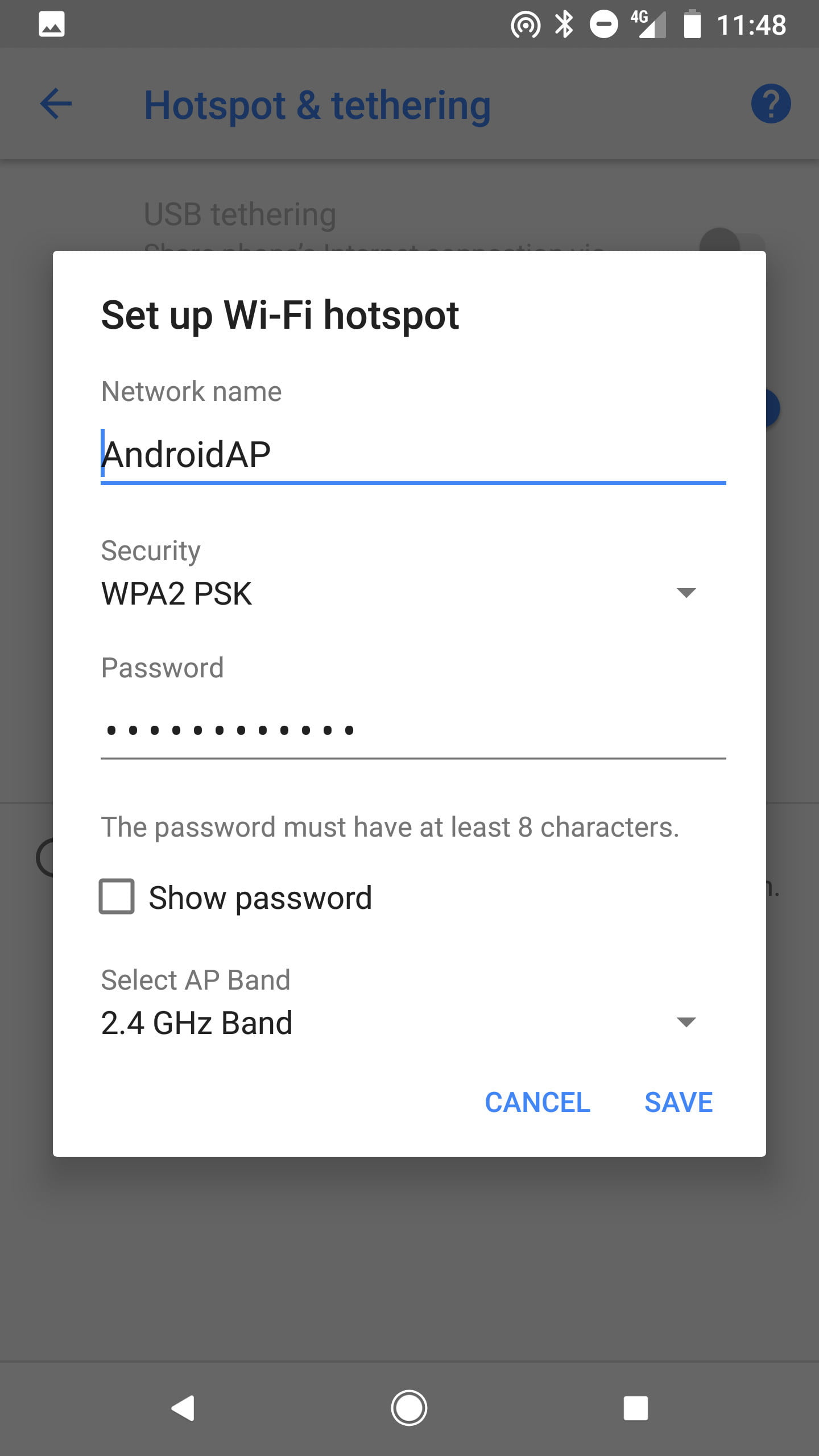 Hotspot ios to android