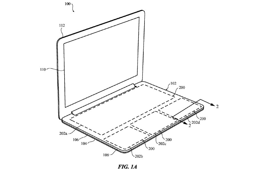 Apple touch surface patent