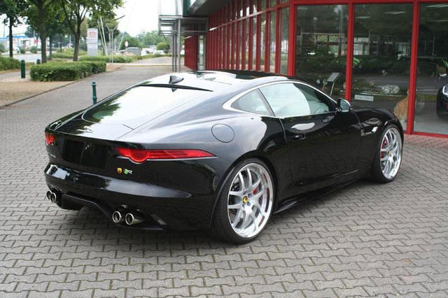2015 jaguar f type coupe tuned by arden press image rear angle