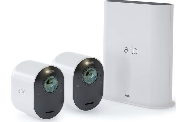 arlo ultra security camera  4k uhd wire free 2 system 750x500