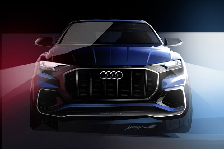 Audi S Next Concept Car Is Scheduled To Greet The Public For First Time In A Few Weeks At Detroit Auto Show Named Q8 E Tron Design Study