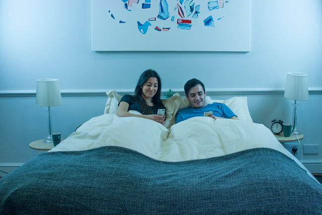 balluga is a smart bed with ac and air suspension couple using app in