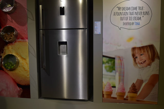 bekos homecream fridge has a built in ice cream maker beko 3