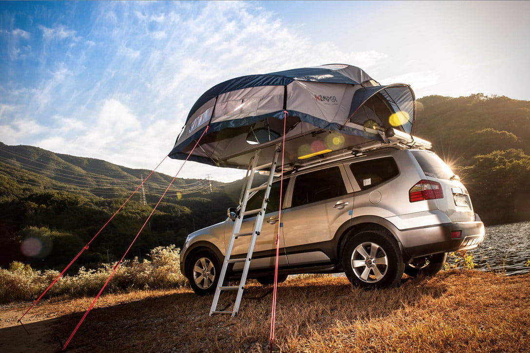 Car C& in Style with One of the Best Rooftop Tents Currently Available | Digital Trends & Car Camp in Style with One of the Best Rooftop Tents Currently ...