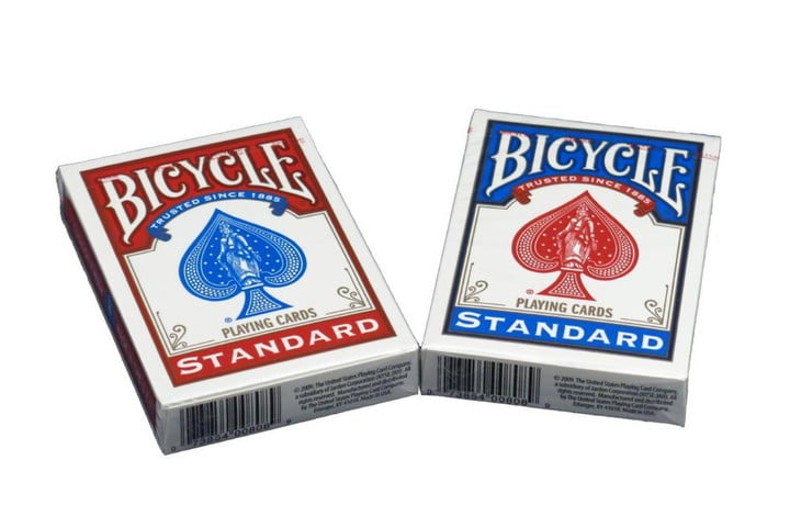 put disaster preparedness kit bicycle playing cards
