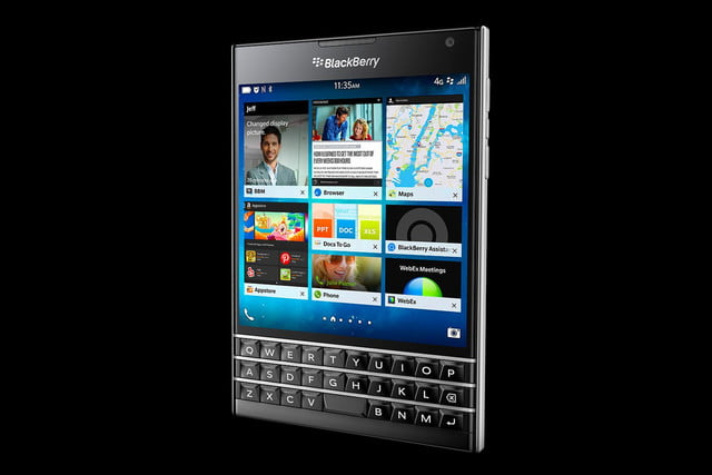 BlackBerry Passport black right angle