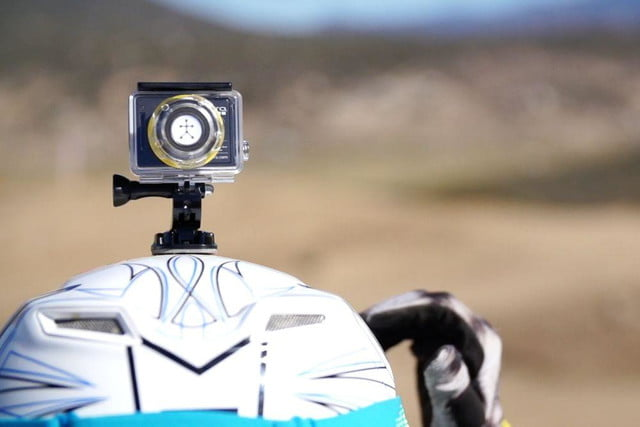 Blast Motion action cam mounted