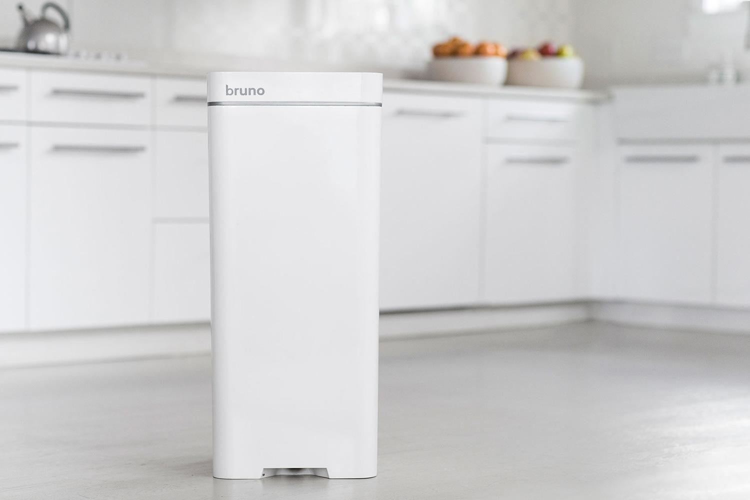 The Bruno Is a Garbage Can with a Built-In Vacuum   Digital Trends