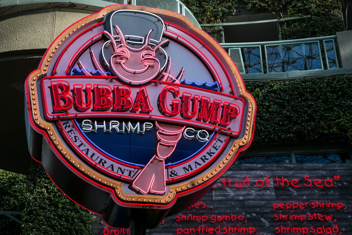 real products movies bubba gump universal city  californiagetty images