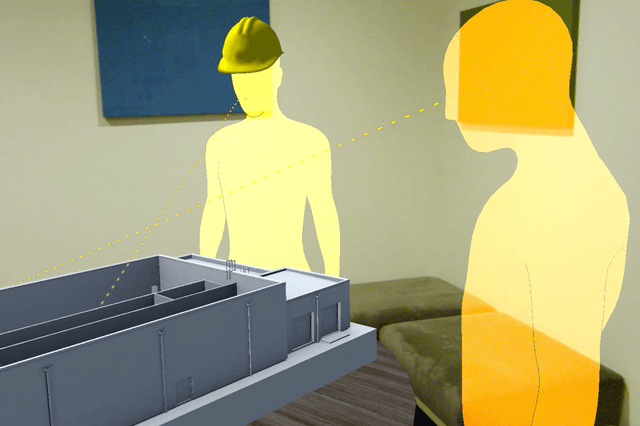 hololens mixed reality work tool object theory building mode