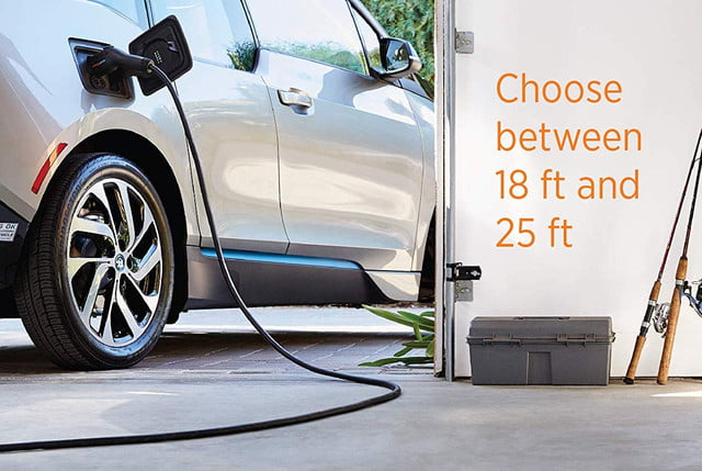 amazon cuts prices of juicebox and chargpoint level 2 home ev chargers chargepoint charger  hardwired 18 foot cable 3 1