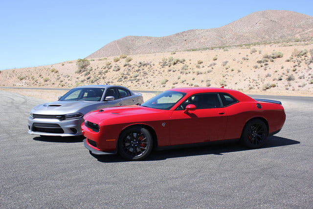 2015 dodge charger challenger srt hellcats track review and hellcat on red sides