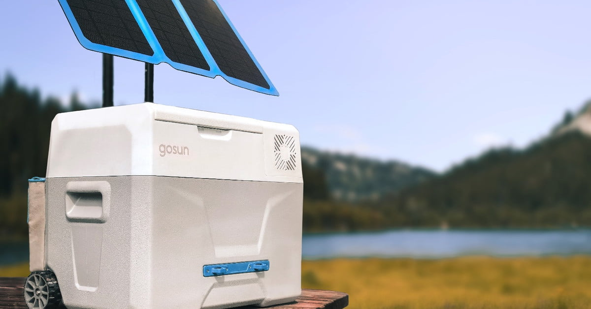 The GoSun Chill is a solar powered cooler