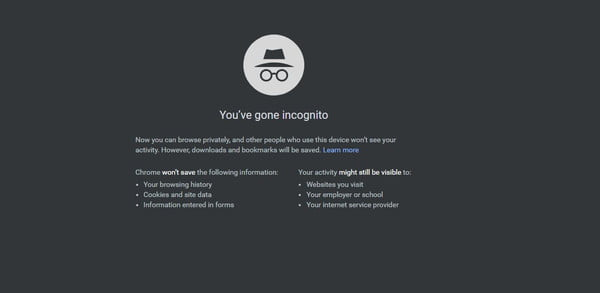 how to be anonymous online chrome
