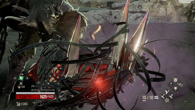 Code Vein review arm