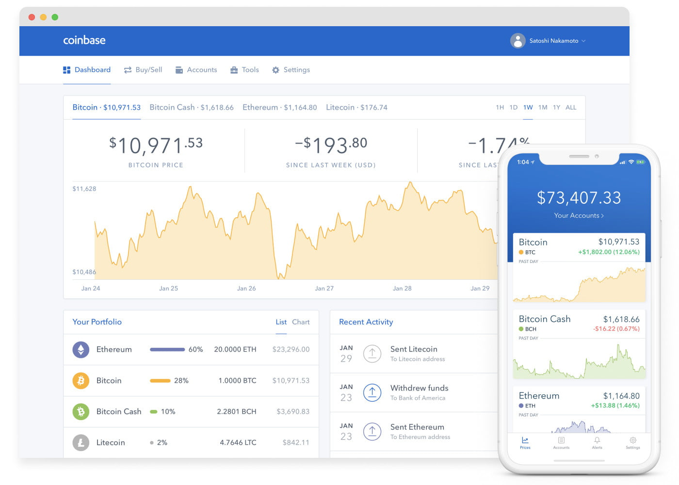 Selling on Coinbase