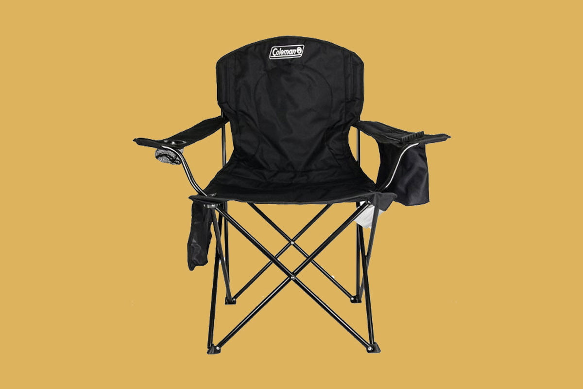 17 coleman oversized quad chair with cooler pouch keeps you relaxed refreshed char