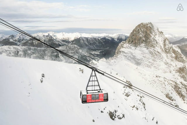 airbnbs new a night at contest is for cable car in the french alps courchevel airbnb a9d442c9