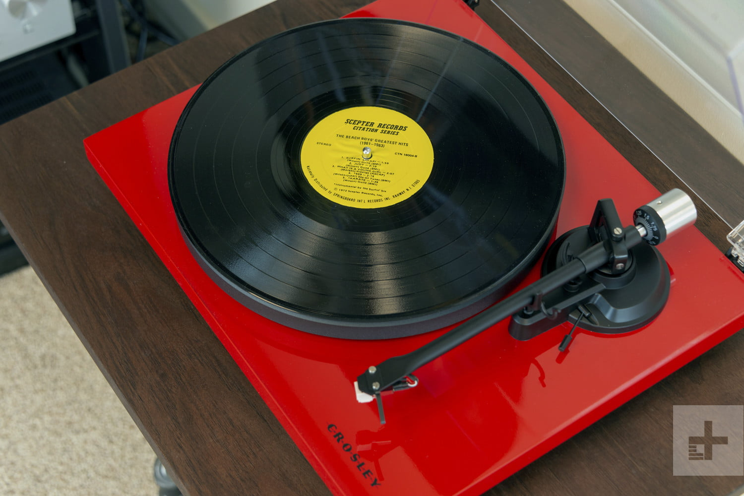 The Crosley C6 is your glimmering gateway to vinyl. Step inside