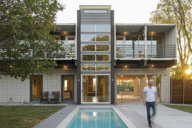This Shipping Container Home Is Super Luxurious Dallas Pool