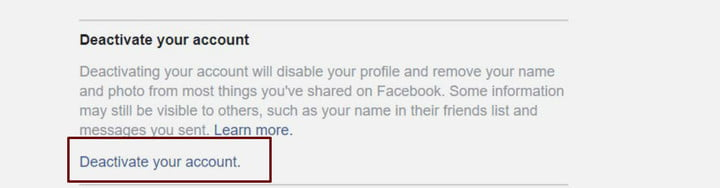 how to delete your facebook account deactivatefb