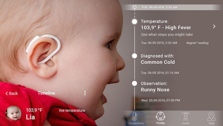A worry-no-more wearable tracks your feverish child's temperature
