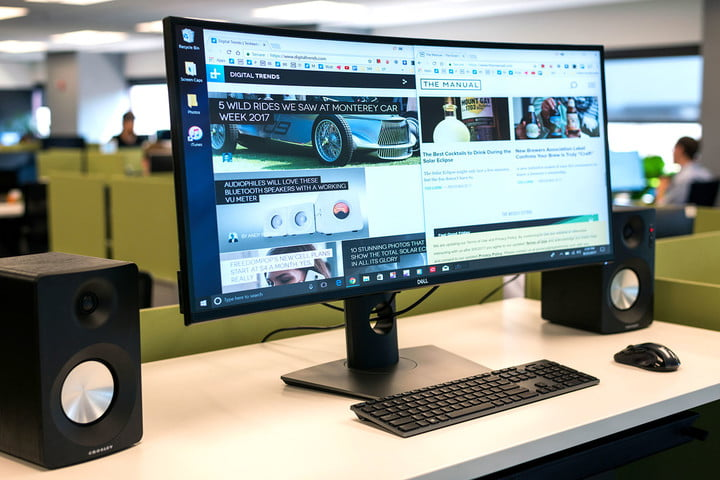 Dell UltraSharp U3818DW review side angle