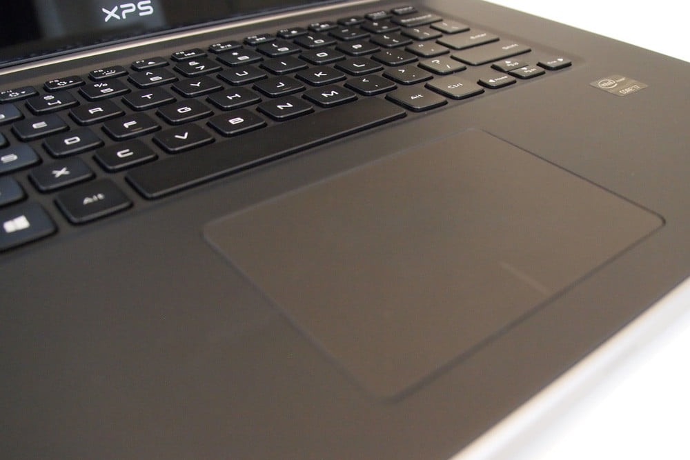 Dell XPS 15 review keyboard and trackpad